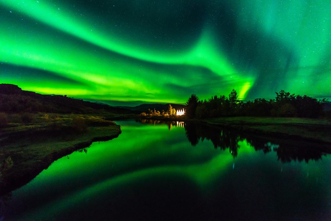 Aurora at Thingvellir.