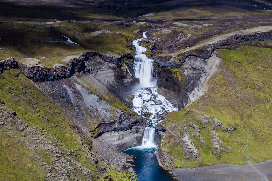 Ófærufoss waterfall.