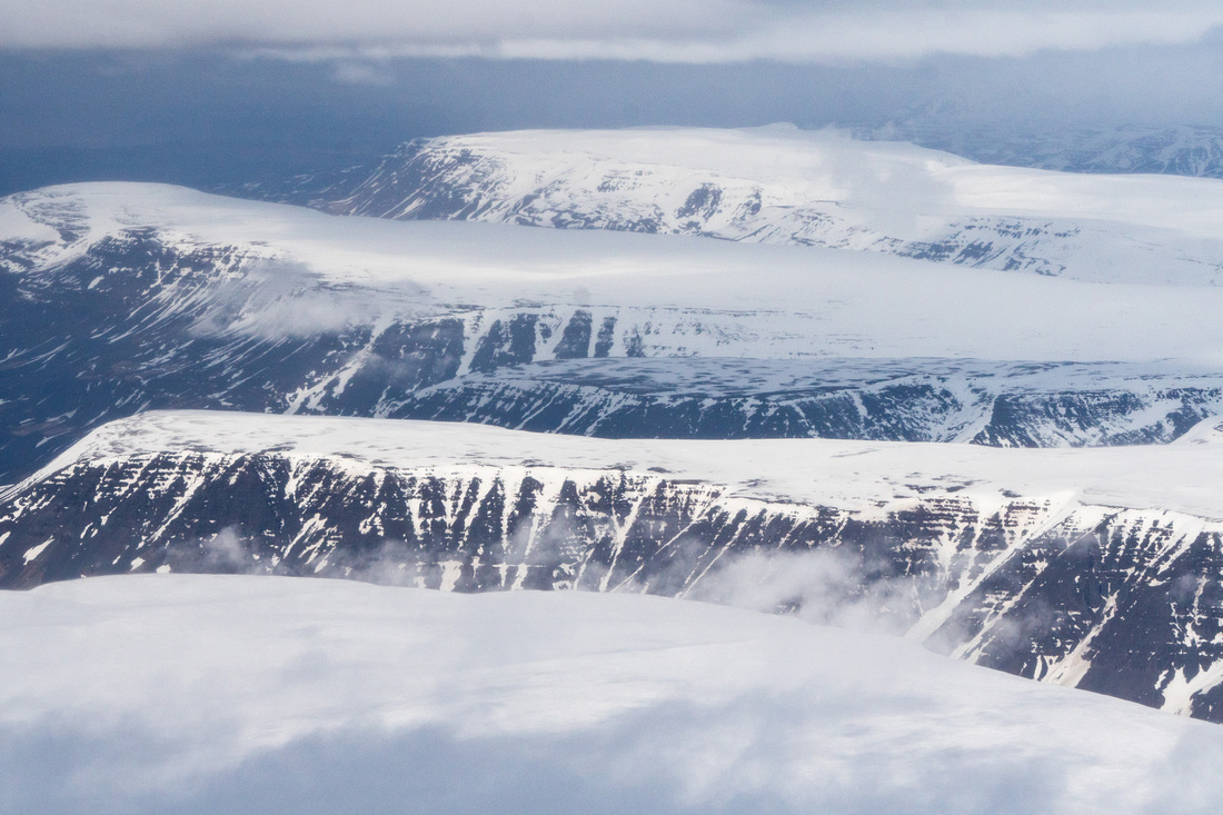 Iceland By Air, mountains in the northern part of Iceland.