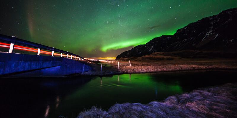 Eyjafjöll northern lights