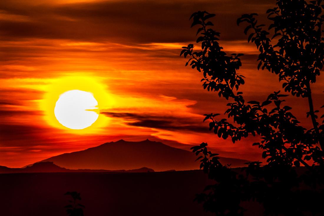Sunset at Snaefellsjokull