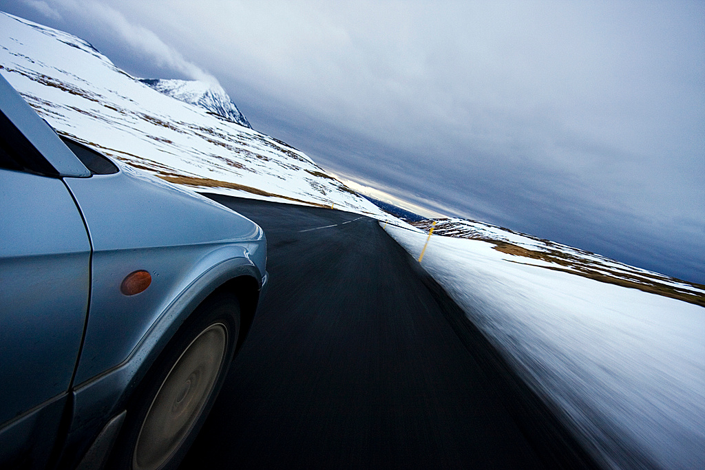 Driving in West-iceland