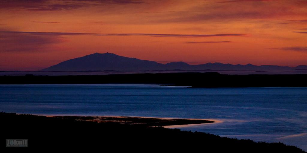 Sunset in Borgarfjörður