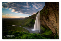 Seljalandsfoss-sunset
